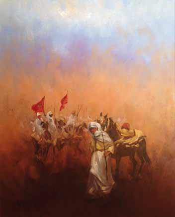 Horseman Oil on canvas 100 x 80 cm