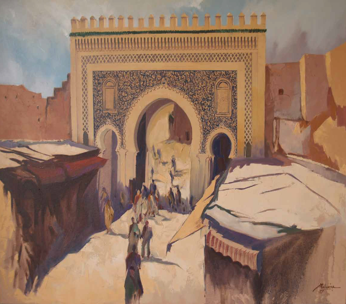 Door Boujloud in Fez Oil on canvas 100 x 80 cm