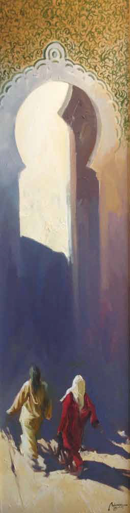 The Door Oil on canvas 130 x 34 cm