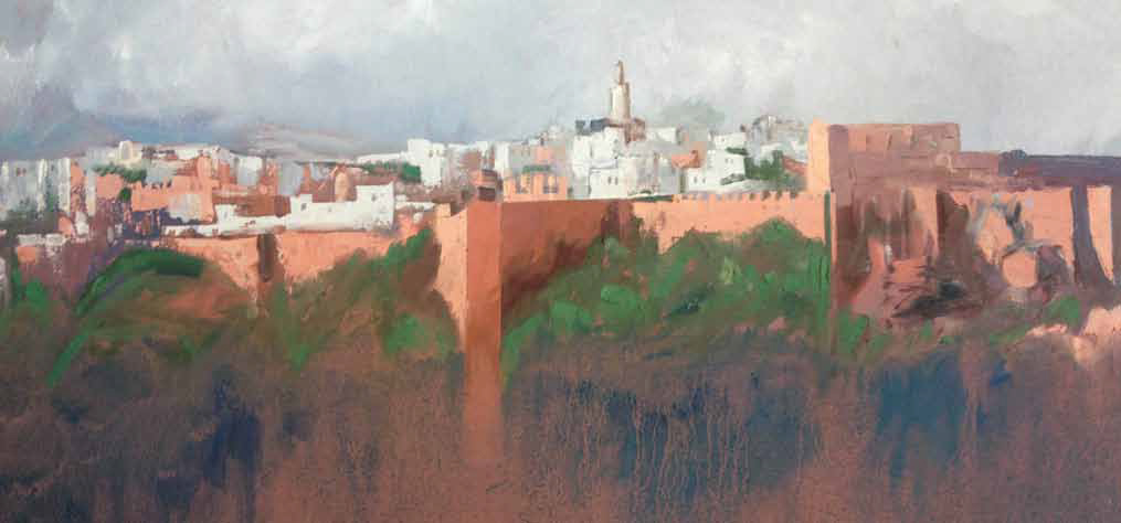 View of Rabat Oil on canvas 50 x 100 cm