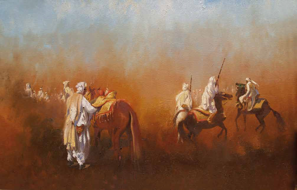 The Horsemans Oil on canvas 120 x 80 cm